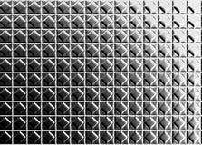 Diamond shape pattern aluminium tile background. 3d illustration Royalty Free Stock Photography