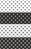 Diamond Shape Seamless Pattern Set Foto de archivo libre de regalías