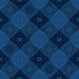 Diamond shape silhouette seamless pattern. This illustration is design drawing diamond shape with silhouette in blue color, random and symmetry style with vector illustration