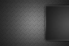 Diamond shape steel plate texture. Royalty Free Stock Image