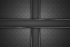 Diamond shape steel plate texture. Stock Image