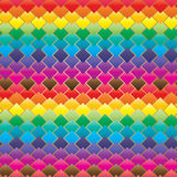 Diamond shape symmetry colorful seamless pattern Royalty Free Stock Photo