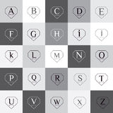 Diamond shaped alphabet vector logo set Stock Photo