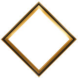 Diamond shaped antique picture frame Royalty Free Stock Images