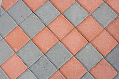 Diamond shaped brick paver Royalty Free Stock Images