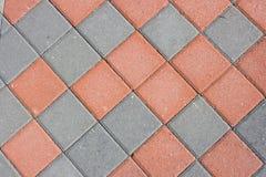 Diamond shaped brick paver Royalty Free Stock Images