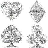 Diamond shaped Card Suits on white Royalty Free Stock Photography