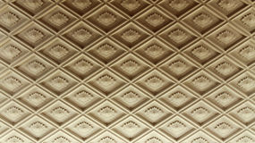 Diamond-shaped ceiling moldings Stock Image