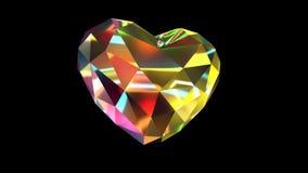 Diamond Shaped colorido con las luces en Alpha Channel