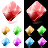 Diamond shaped glass buttons Royalty Free Stock Photos