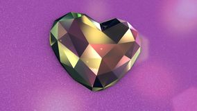 Diamond Shaped Heart colorido con las luces que oscilan
