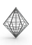 Diamond-shaped metal construction Stock Images