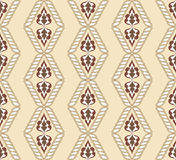 Diamond-shaped pattern on a beige background Royalty Free Stock Image