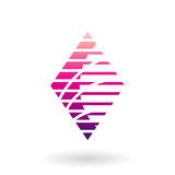 Diamond Shaped Striped Abstract Icon Images libres de droits