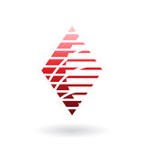 Diamond Shaped Striped Abstract Icon Royalty-vrije Stock Foto's