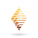 Diamond Shaped Striped Abstract Icon Immagini Stock