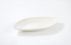 Diamond shaped white dinner plate Stock Photo