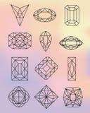 Diamond Shapes On Pastel Colors-Achtergrond Stock Afbeeldingen