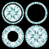 Diamond shapes set Royalty Free Stock Image