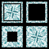 Diamond shapes set Stock Image