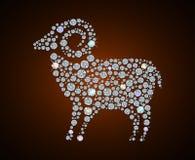 Diamond sheep. Illustration of shiny diamond sheep, symbol of 2015 year Stock Photo