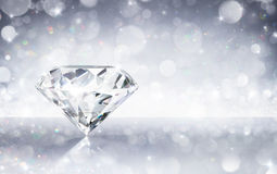 Diamond In Shiny Background royalty-vrije stock afbeeldingen