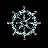 Diamond Ship Wheel Photos stock