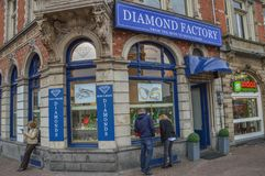 Diamond Shop The Diamond Factory At Amsterdam The Netherlands.  Royalty Free Stock Image