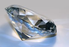 Diamond sideways in light back Royalty Free Stock Image
