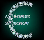 Diamond sign Euro Stock Images