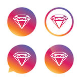 Diamond sign icon. Jewelry symbol. Gem stone. Stock Photo