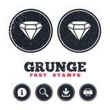 Diamond sign icon. Jewelry symbol. Gem stone. Stock Photo