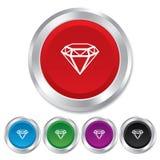 Diamond sign icon. Jewelry symbol. Gem stone. Stock Photos
