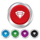 Diamond sign icon. Jewelry symbol. Gem stone. Royalty Free Stock Image