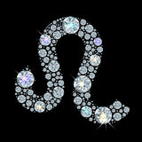 Diamond sign of the zodiac Leo Royalty Free Stock Photo