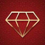 Diamond Silhouette de oro Fotografía de archivo
