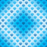 Diamond silhouette diamond shape blue seamless pattern Royalty Free Stock Photos