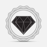 Diamond, silhouette. Vector illustration Stock Image