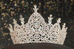 Diamond Silver Crown für Fräulein Pageant Beauty Contest, Crystal Tia stockbilder