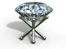 Diamond on silver stand Stock Images