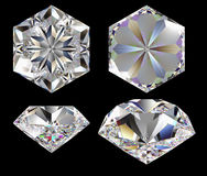 Diamond six star Royalty Free Stock Photo