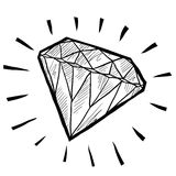 Diamond sketch Royalty Free Stock Photo