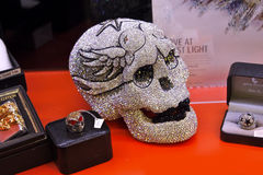 Diamond Skull Royaltyfria Foton