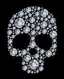 Diamond skull  on black background Royalty Free Stock Photos