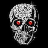 Diamond skull with red eyes. Vector diamond skull with red ruby eyes on black background Royalty Free Stock Photo