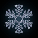 Diamond snow banner Royalty Free Stock Photography