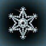 Diamond snowflake. Card, vector illustration Stock Photography