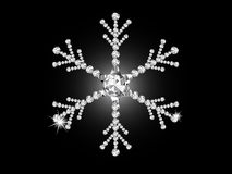 Diamond snowflake Royalty Free Stock Photos
