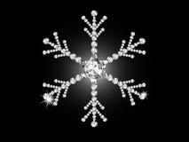 Diamond snowflake Royalty Free Stock Photos