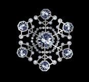 Diamond Snowflake Stock Afbeelding